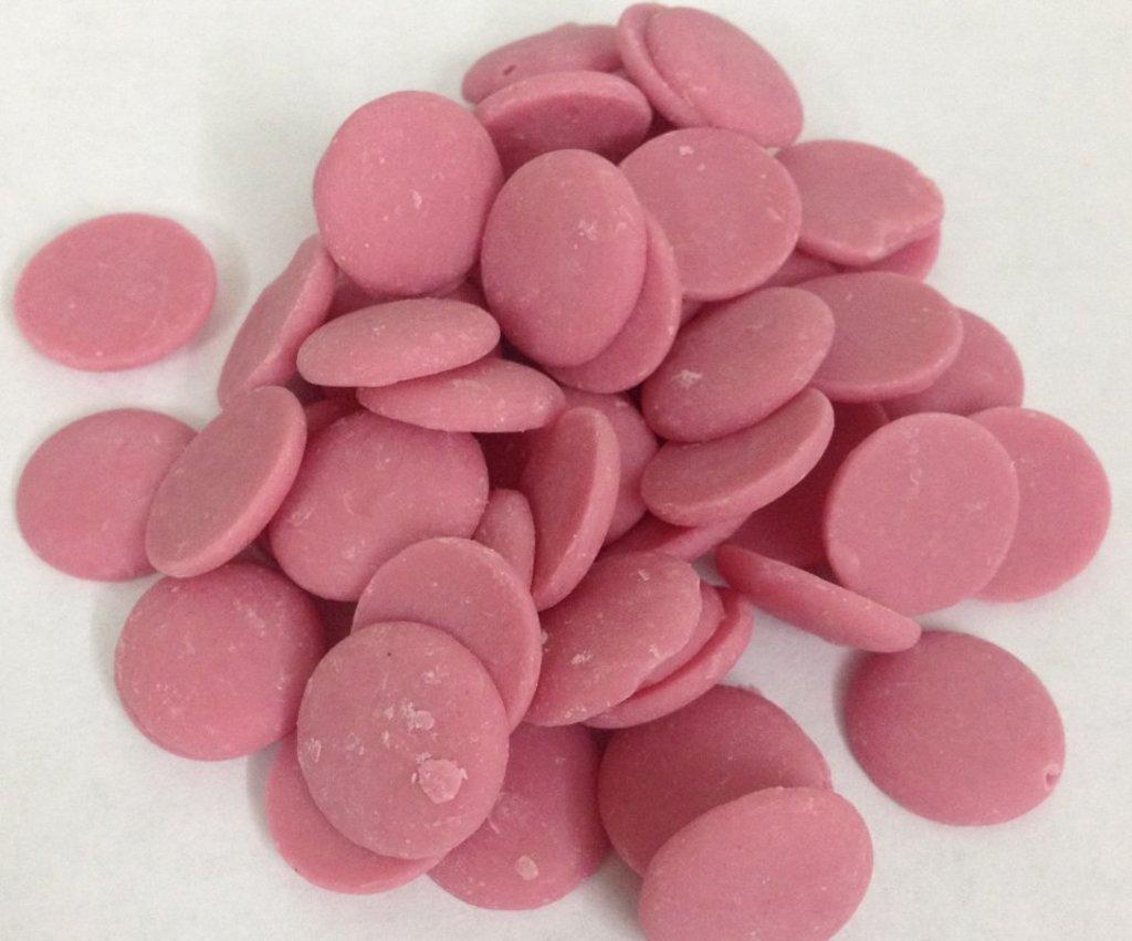 Шоколад,шоколадная глазурь: Глазурь розовая со вкусом клубники   100 гр в ТортExpress