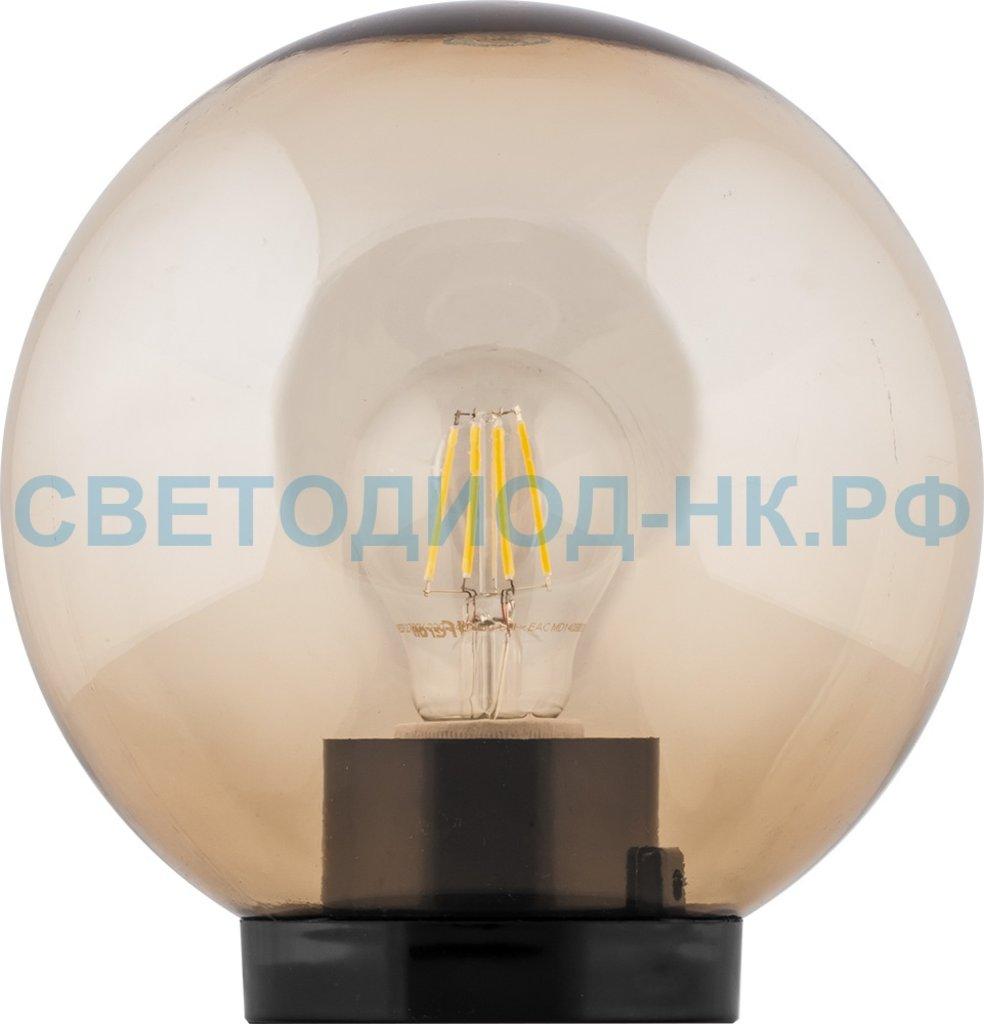 Садово-парковые светильники: НТУ 01-60-253 230V E27 d=250мм золотой в СВЕТОВОД