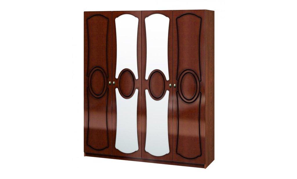Спальный гарнитур Идиллия (лак): Шкаф ШР-4 Идиллия (лак), одежда и бельё, без ящиков, 2 зеркала в Уютный дом