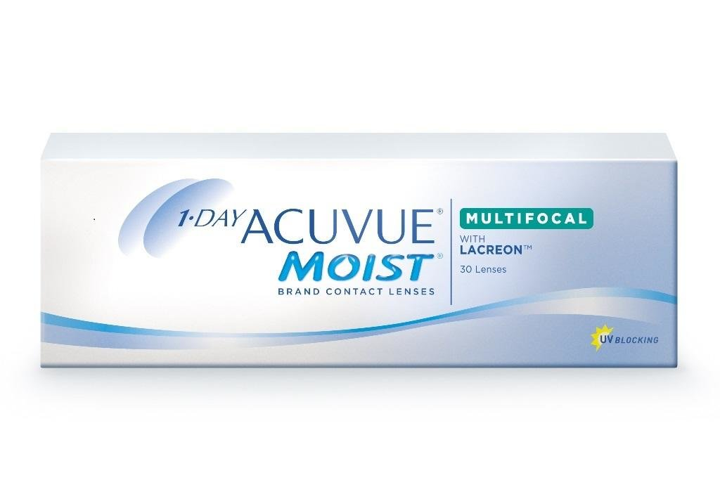 Контактные линзы: Контактные линзы 1 DAY ACUVUE MOIST MULTIFOCAL (90шт, аддидация MID) Johnson & Johnson в Лорнет
