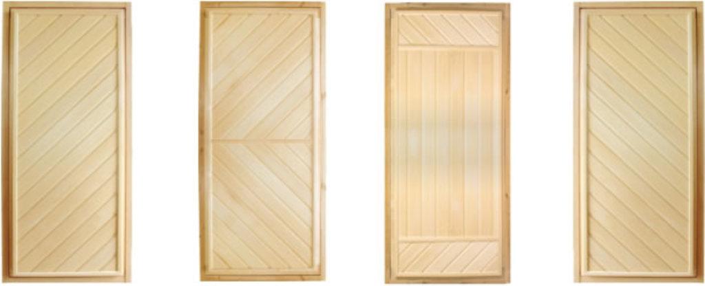 Двери для саун и бань: Дверь для бани глухая 70х1700 см с петлями в Погонаж