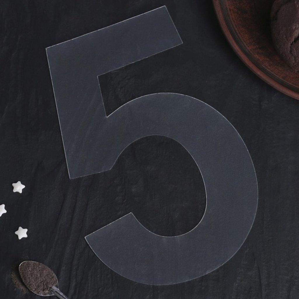 """Трафареты: Трафарет для торта """"Цифра 5""""  20 см × 12 см × 0,1 см в ТортExpress"""