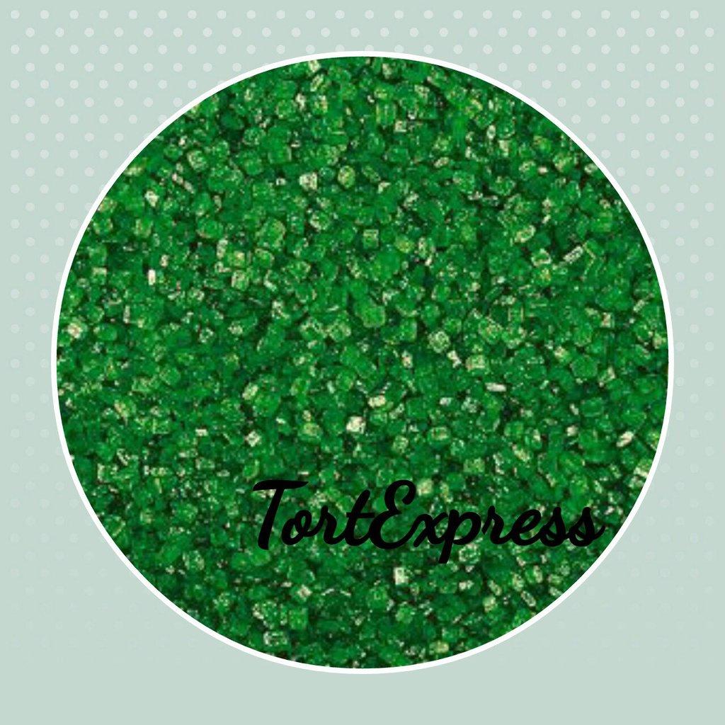Посыпки декоративные: Декоративный сахар Зелёный в ТортExpress