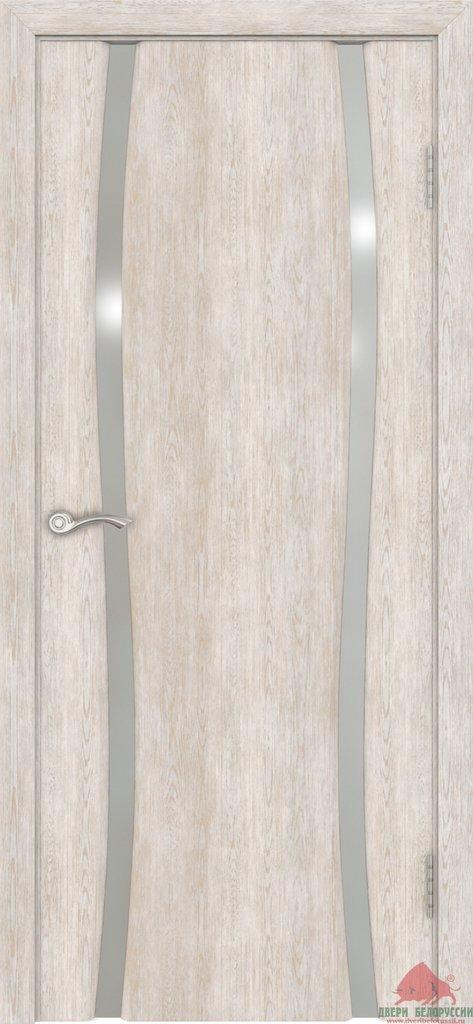 Двери Белоруссии экошпон: Плаза-2(Нанофлекс белый ясень) в STEKLOMASTER