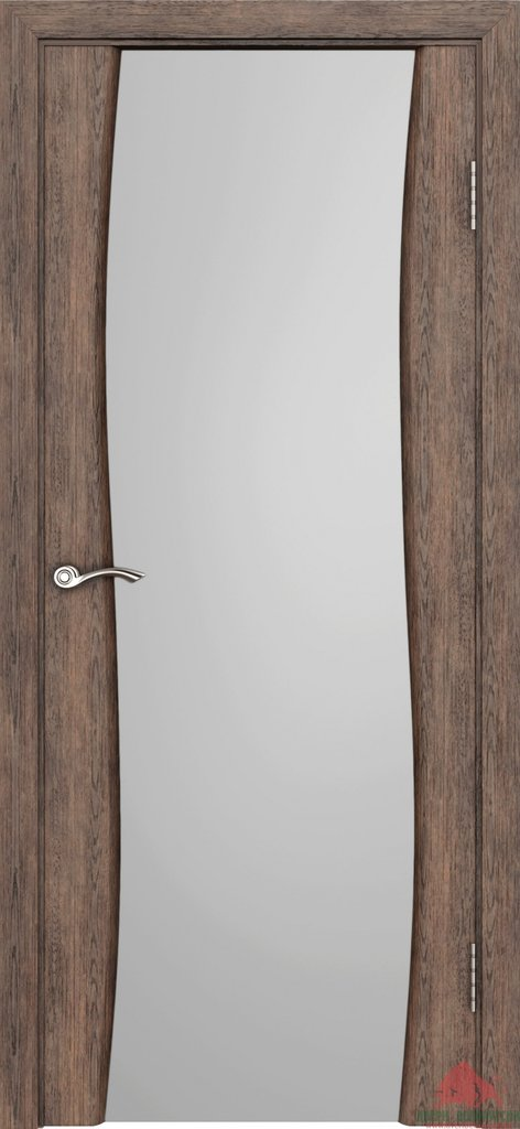 Двери Белоруссии экошпон: Волна (Нанофлекс каштан) в STEKLOMASTER