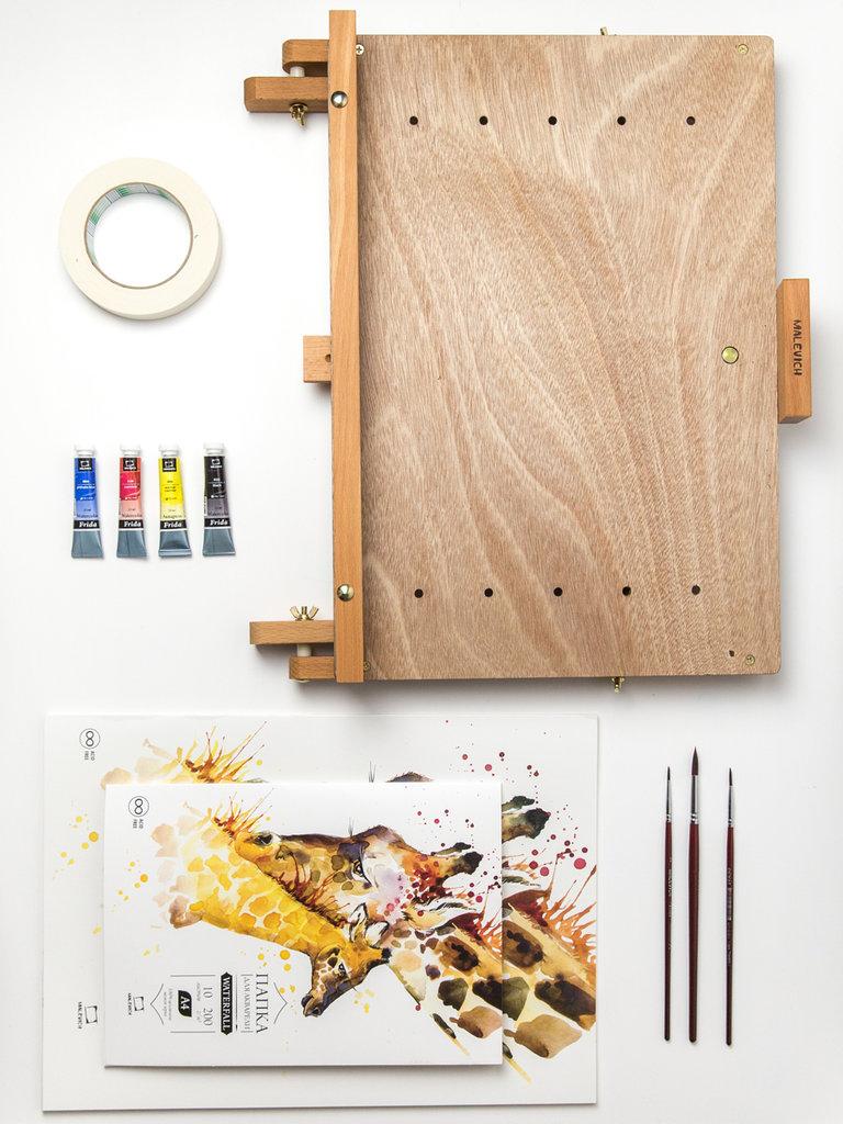 Мольберты: Стартовый набор для рисования акварелью (с мольбертом МЛ-14) в Шедевр, художественный салон
