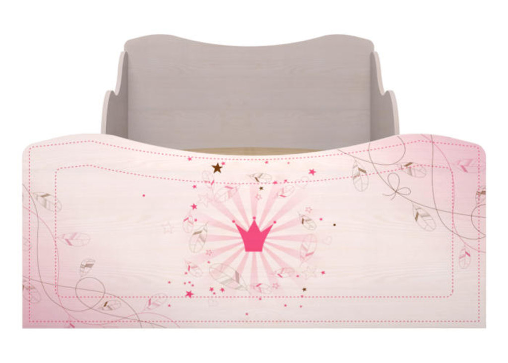 Детские и подростковые кровати: Кровать с ящиками (комплектация 1) 05 Принцесса (90х190, усилен. настил) в Стильная мебель