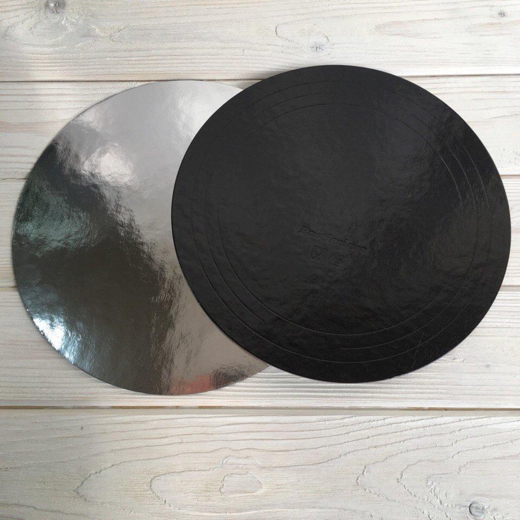 Упаковка: Подложка d24 черная/серебро 1,5мм в ТортExpress