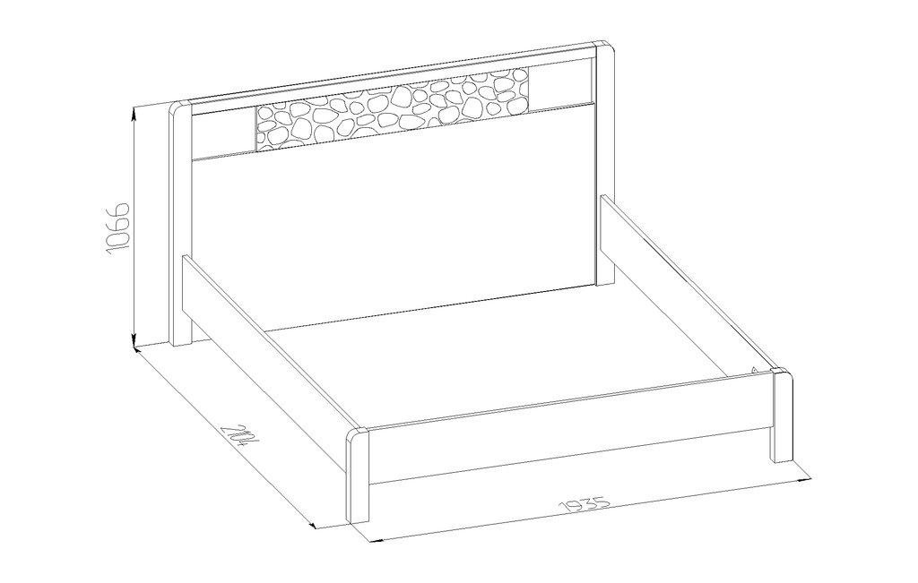 Кровати: Кровать WYSPAA 41 (1800, орт. осн. металл) в Стильная мебель
