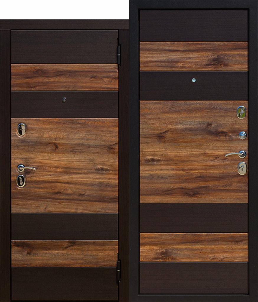 Двери FERRONI: Входная дверь 9,5 см ОКСФОРД Венге темный / Дуб бомонд лофт в Двери в Тюмени, межкомнатные двери, входные двери