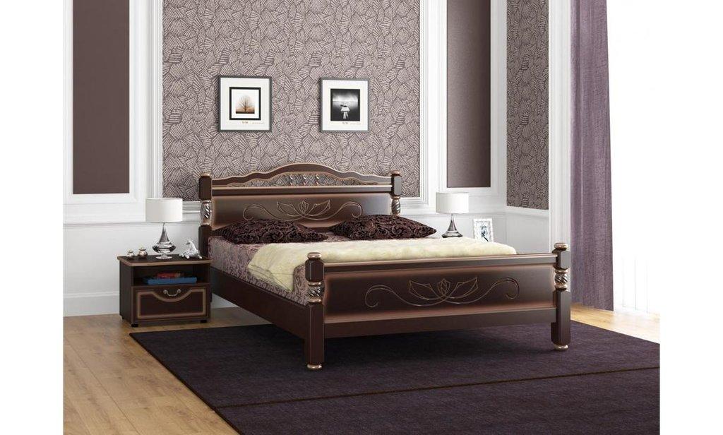 Кровати: Кровать Карина-5 (массив) в Уютный дом