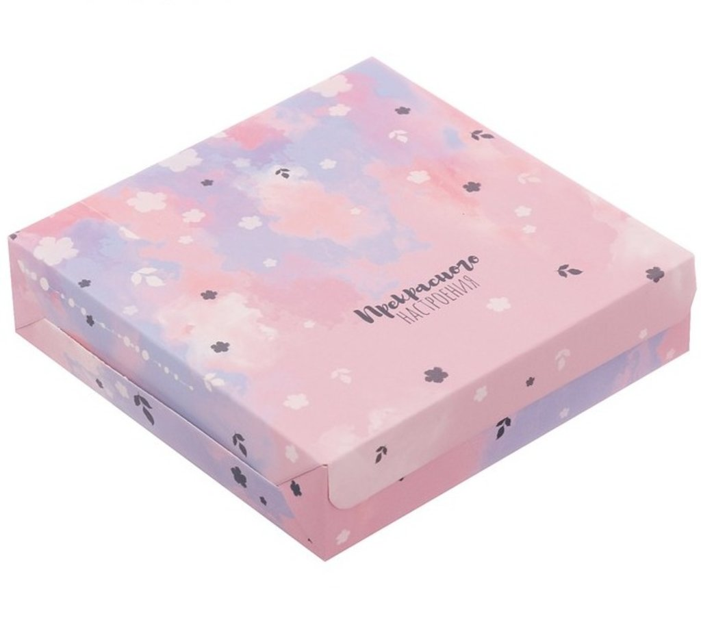 Коробки для кондитерских изделий: Коробка складная «Прекрасного настроения», 14 × 14 × 3.5 см в ТортExpress