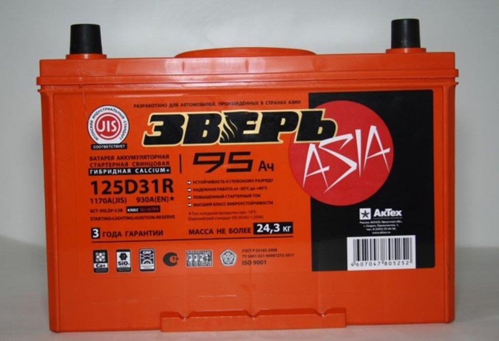 ЗВЕРЬ: ЗВЕРЬ Asia 6СТ- 95 в БазаАКБ