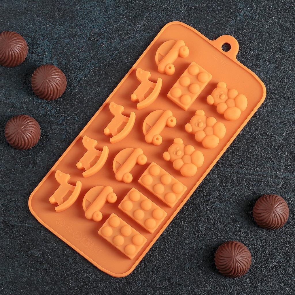 Силиконовые формы для льда, шоколада и мармелада: Силиконовая форма для льда и шоколада Детские игрушки в ТортExpress