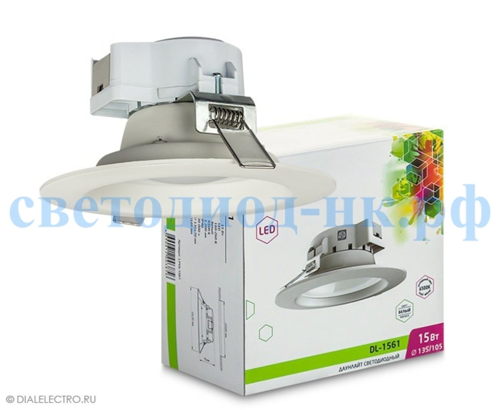Встраиваемые светодиодные светильники: Даунлайт светодиодный DL-1541 15Вт 4000К в СВЕТОВОД