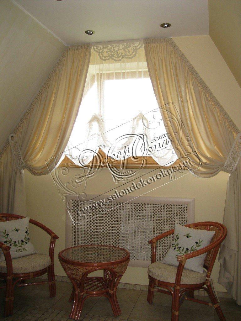 Шторы, портьеры: Шторы для мансарды в Декор окна, салон