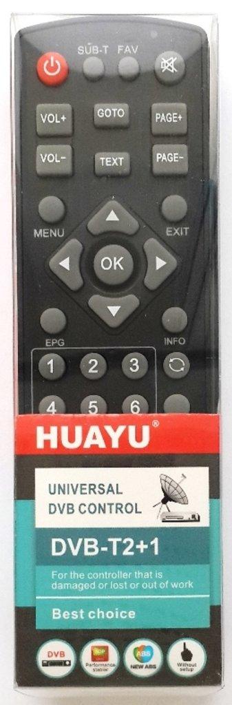 Пульт универсальный для приставок: Пульт универсальный для TV  приставок (DVB-T2+1) HUAYU в A-Центр Пульты ДУ
