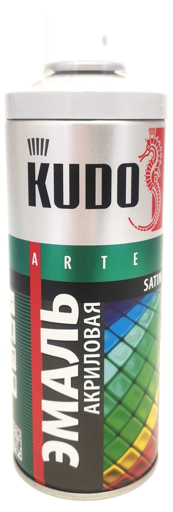 Универсальные: Краска-спрей акриловая KUDO серая RAL 7001 в Шедевр, художественный салон