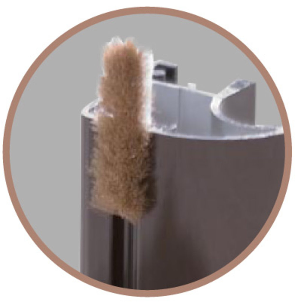 Мебельные направляющие и комплектующие: Шкаф-купе 3 Simple Шлегель (комплект щеток) в Стильная мебель