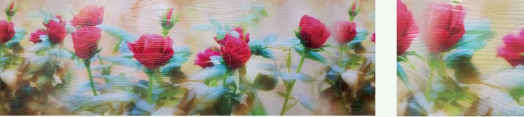 Фартуки ЛакКом 6 мм. с тиснением: Алые розы / тиснение дерево в Ателье мебели Формат