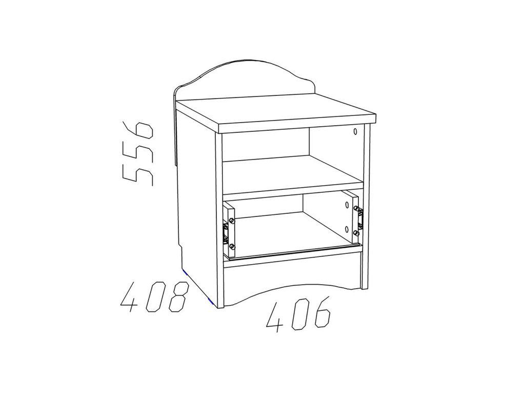 Тумбочки детские: Тумба с ящиками НМ 009.22 Прованс в Стильная мебель