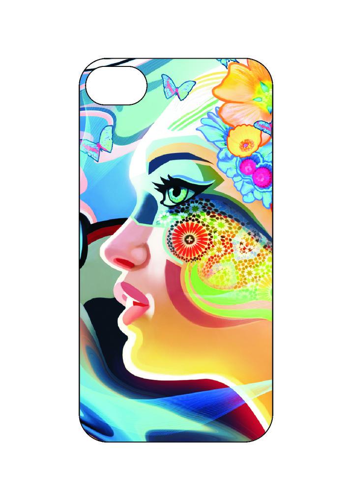 Выбери готовый дизайн для своей модели телефона: Girlabstract в NeoPlastic