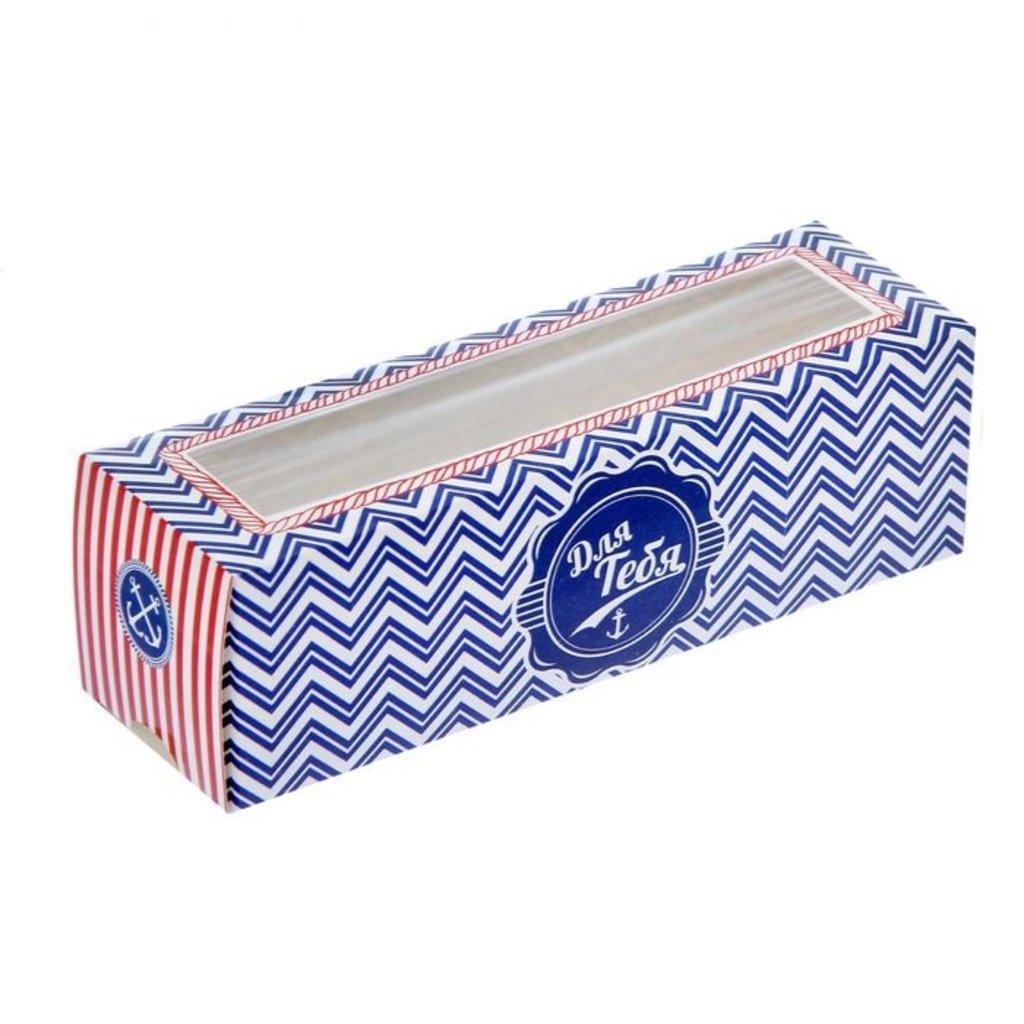 """Коробки для кондитерских изделий: Коробка для макарун, зефира, печенья """"Морские приключения"""" 18х5.5х5.5см в ТортExpress"""