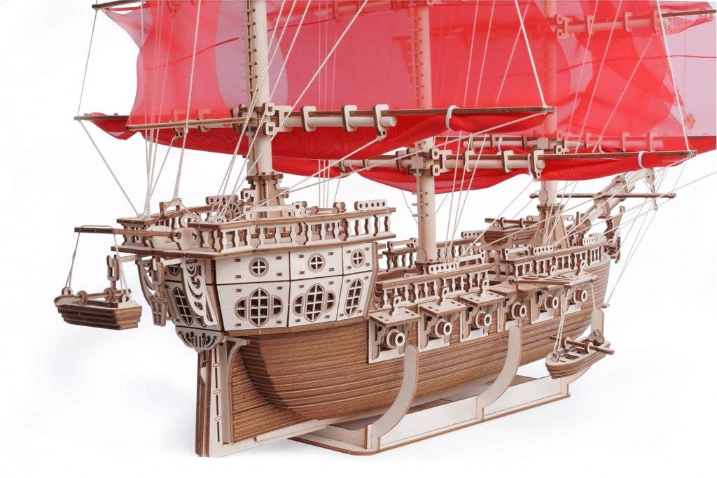 Конструкторы Леммо деревянные модели с движущимися деталями.: Корабль «Пегас» деревянный конструктор с подвижными деталями. в Игрушки Сити