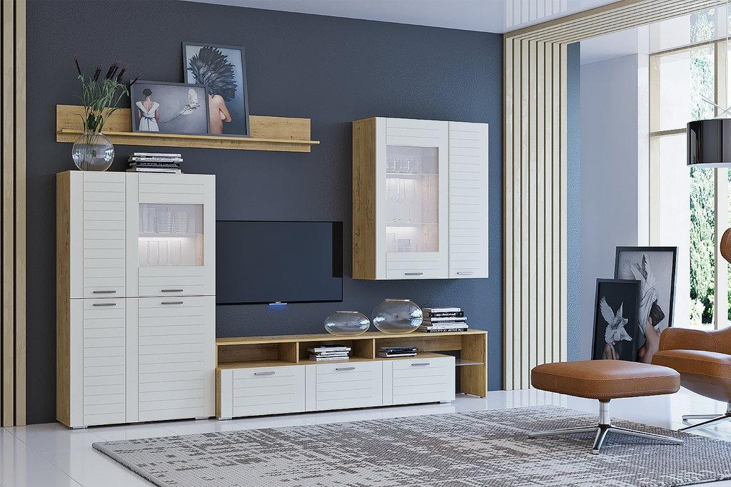 Книжные шкафы и полки: Полка LIVORNO НМ 011.60 в Стильная мебель