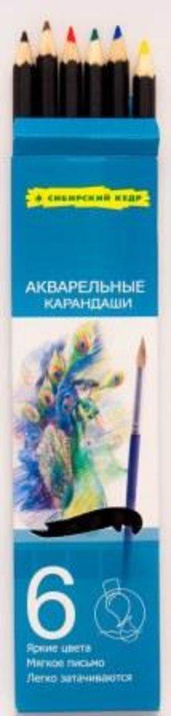"""Акварельные карандаши: Акварельные цветные карандаши """"Сибирский кедр"""" 6 цветов в Шедевр, художественный салон"""
