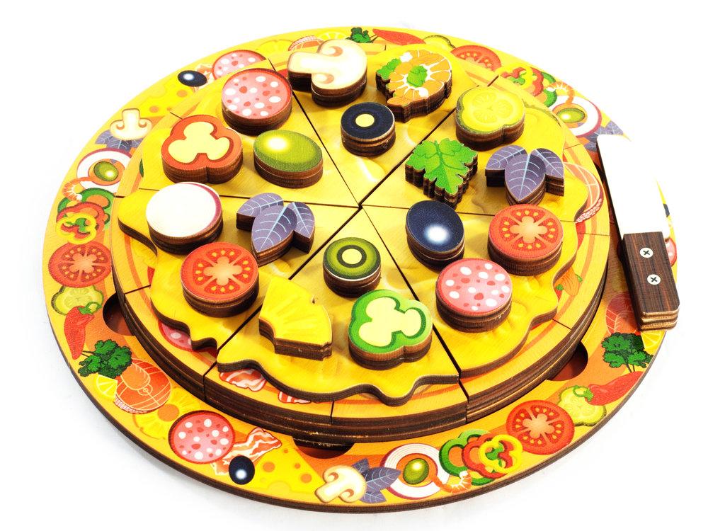 Игрушки для малышей: Пицца 54 элемента, 5 слоев Бэмби Дерево 7918 в Игрушки Сити