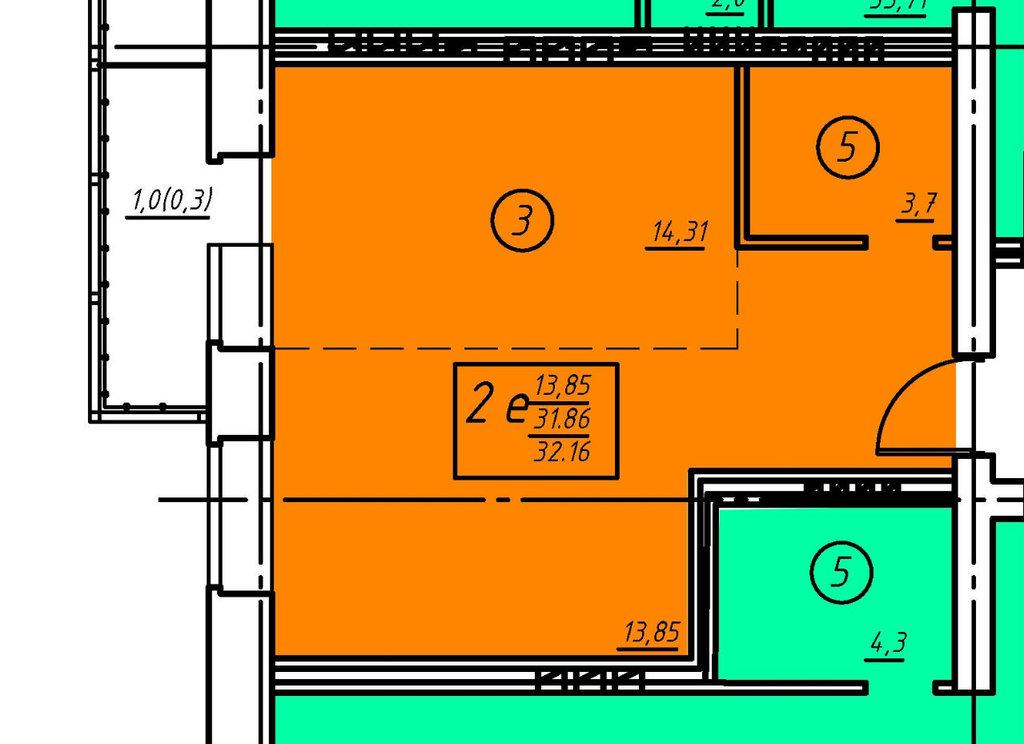 Пятый этаж: Однокомнатная квартира (№16) в Социум, ООО