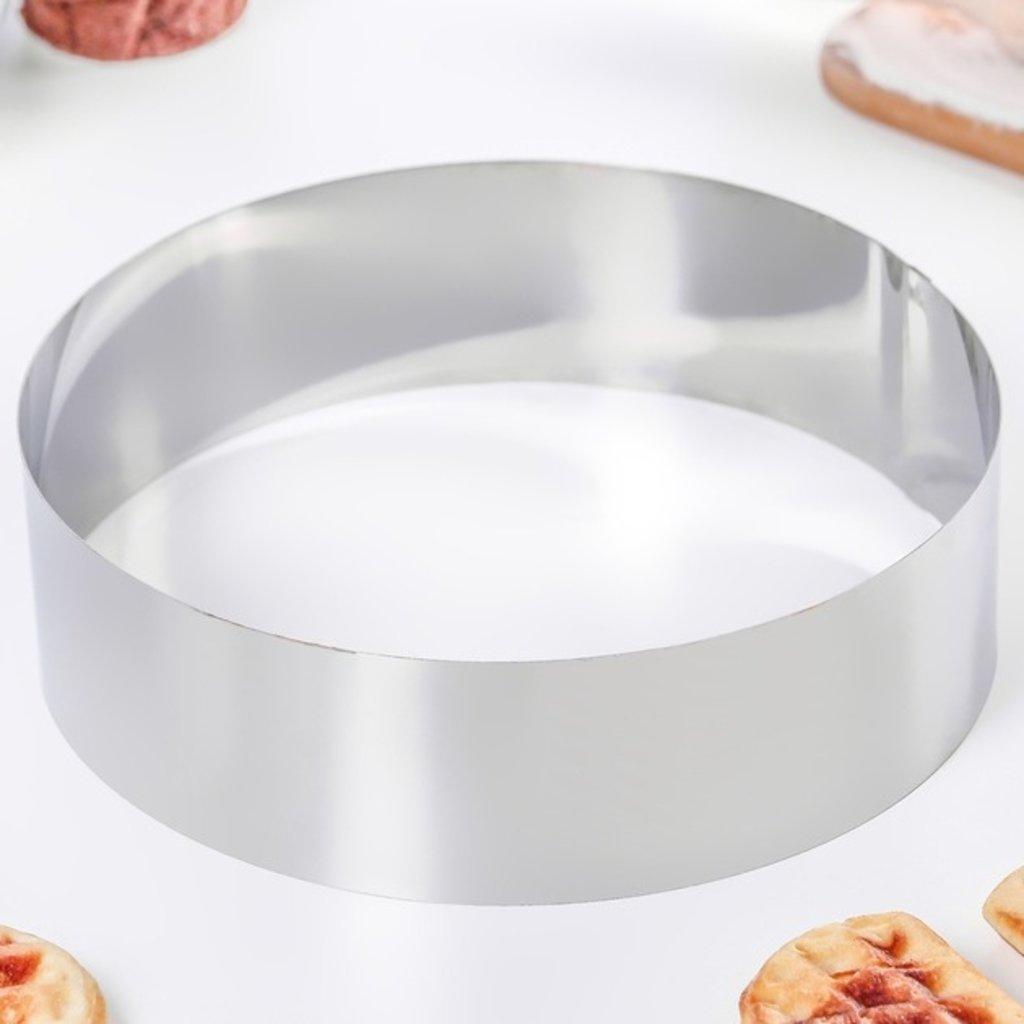 Кольца для выпечки и выкладки: Форма для выкладки и выпечки  h=5 см d=18 см в ТортExpress