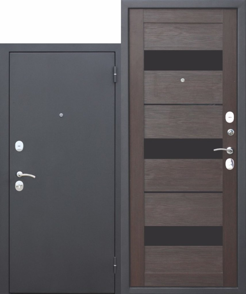 Двери завода Феррони: Гарда МУАР ЦАРГА 22 мм Темный кипарис в Модуль Плюс