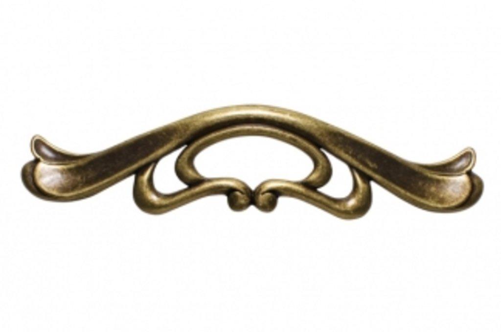 """Коллекция КЛАССИКА: Ручка-скоба 96мм, отделка бронза античная """"Флоренция"""" в МебельСтрой"""