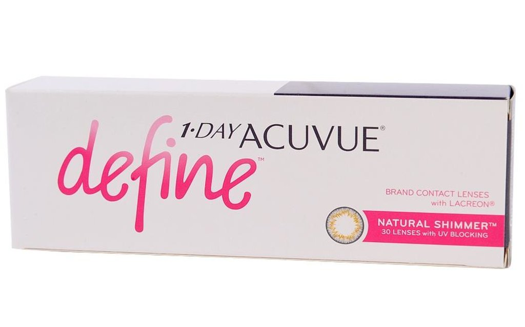 Контактные линзы: Контактные линзы 1-Day Acuvue Define With Lacreon Shimmer (30шт / 8.5) Johnson & Johnson в Лорнет