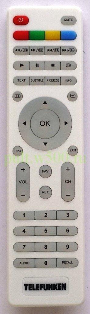TELEFUNKEN: Пульт TELEFUNKEN TF-LED32S37T2 белый (LCD) оригинал в A-Центр Пульты ДУ