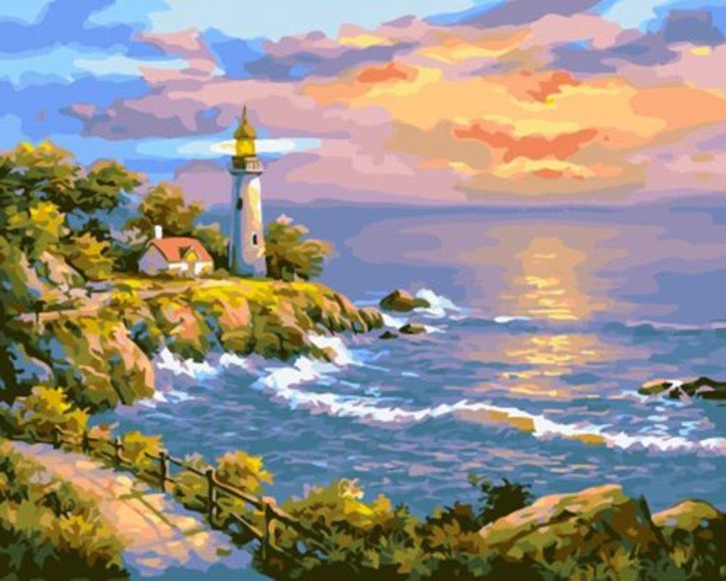 Картины по номерам: Картина по номерам Paintboy 40*50 Маяк GX24055 в Шедевр, художественный салон