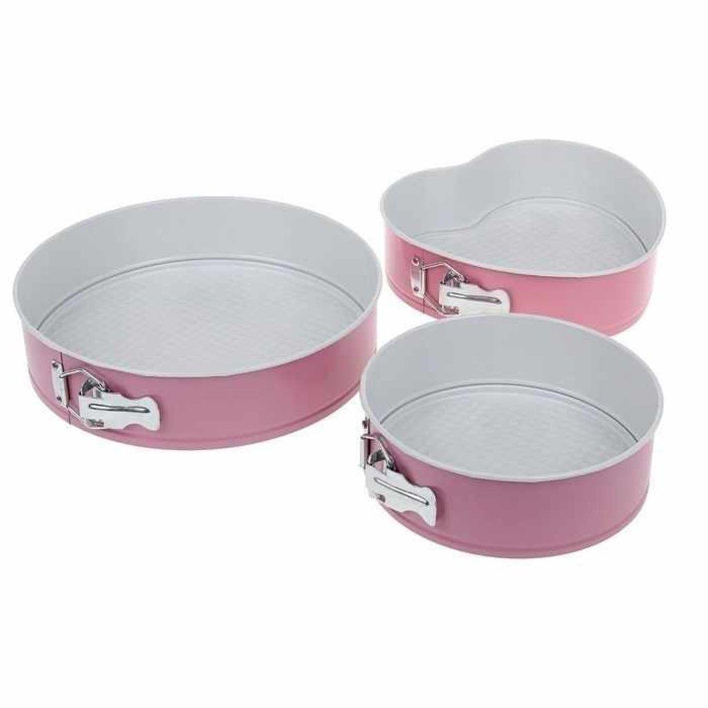 Металлические и разъёмные формы для выпечки: Набор форм для выпечки разъемные с керамический покрытием Флери d=18/23/26 в ТортExpress