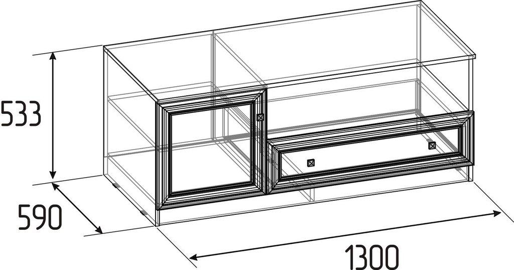 Тумбы и стойки под телевизор и аппаратуру: Тумба ТВ Paola 3 в Стильная мебель