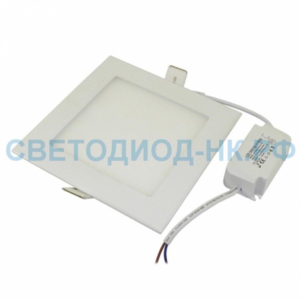 Встраиваемые светодиодные светильники: Светильник 20Вт встраиваемый квадрат белый 4000К, металл, 172(155) мм (ультратонкий) DEKOlabs в СВЕТОВОД