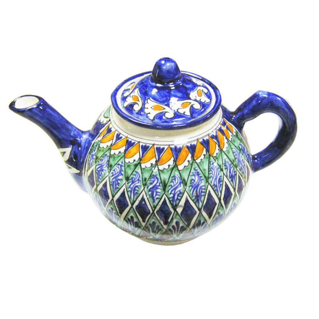 Мангалы. Казаны. Узбекская и турецкая посуда: Чайник заварочный Риштанская керамика в Сельский магазин
