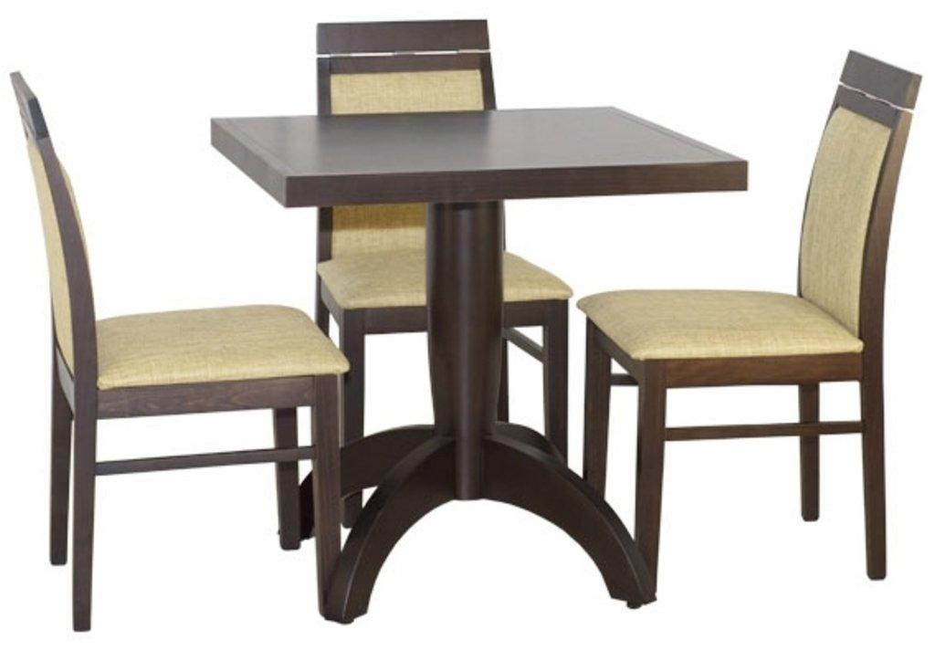 Столы для ресторана, бара, кафе, столовых: Стол Viks-3 квадратный 750х750 (шпон) в АРТ-МЕБЕЛЬ НН