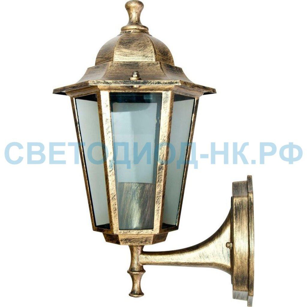 Садово-парковые светильники: 6101 60W 230V E27 170*200*320мм черное золото в СВЕТОВОД