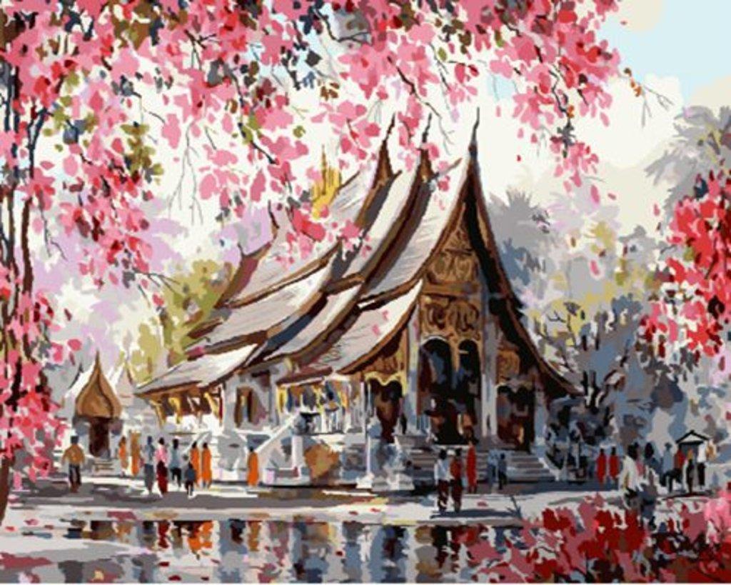 Картины по номерам: Картина по номерам Paintboy 40*50 Тайский храм  GX22960 в Шедевр, художественный салон