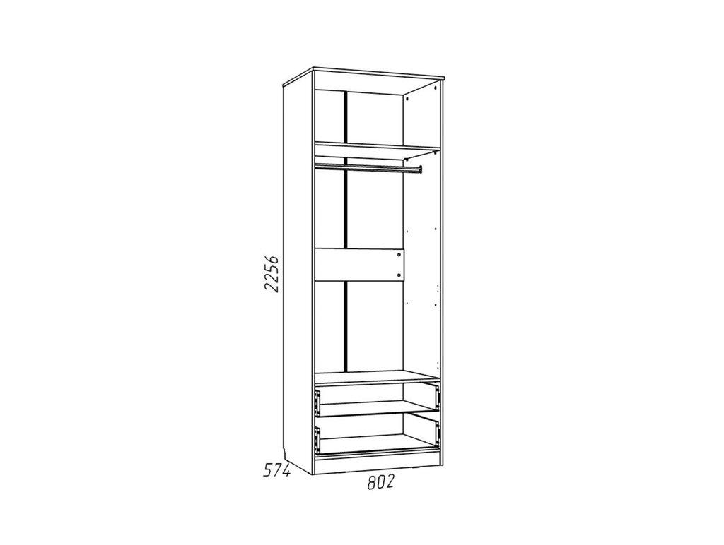 Детские шкафы и стеллажи: Шкаф для одежды с ящиками НМ 013.02-03 ММ Рико-М в Стильная мебель