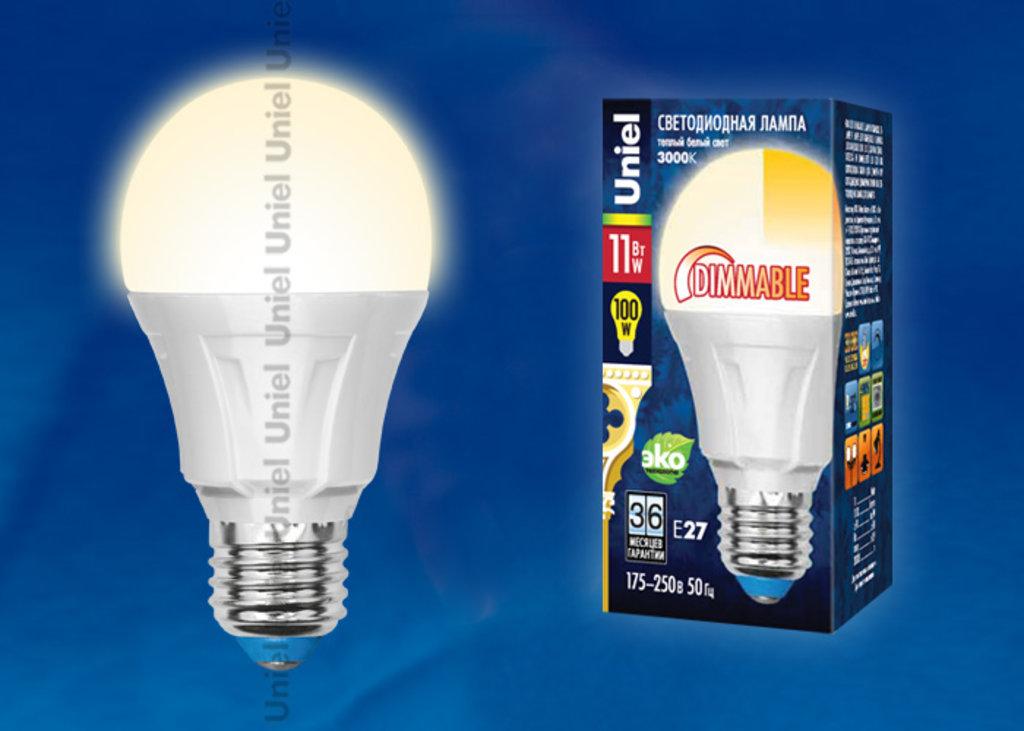 Диммируемые лампы: Светодиодная лампа LED-A60-11W/WW/E27/FR/DIM PLP01WH в СВЕТОВОД