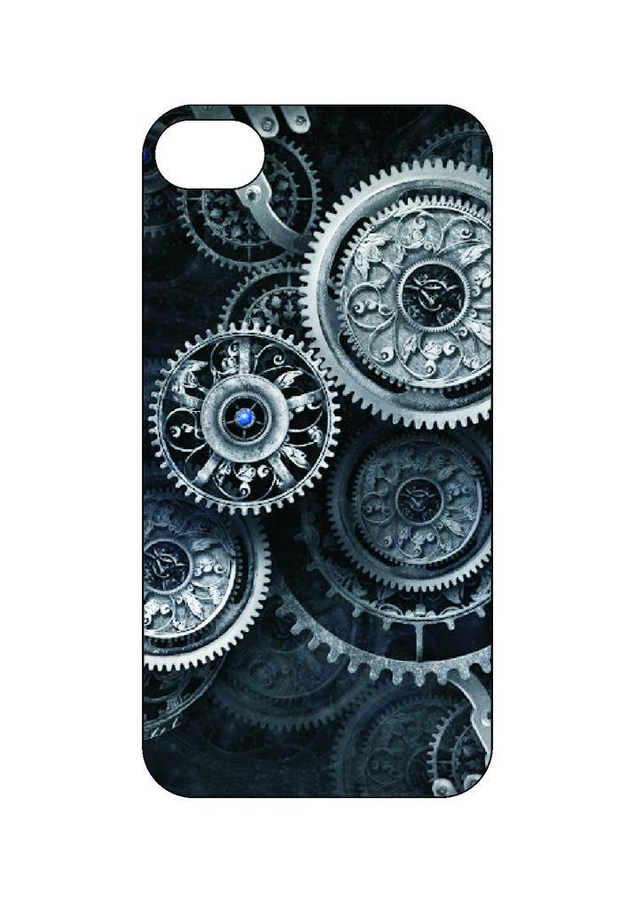Выбери готовый дизайн для своей модели телефона: Шестеренки в NeoPlastic