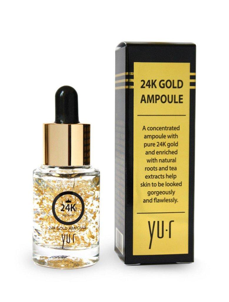Сыворотки: Cыворотка с частицами золота 24R Gold premium ampule, 15 мл в Косметичка, интернет-магазин профессиональной косметики