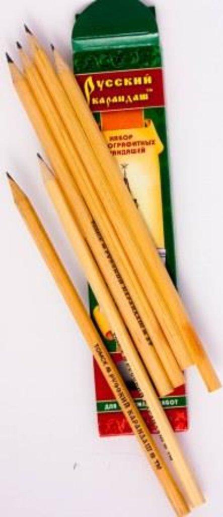 """Чернографитные карандаши: Набор чернографитных карандашей 6шт """"Русский карандаш"""" в Шедевр, художественный салон"""